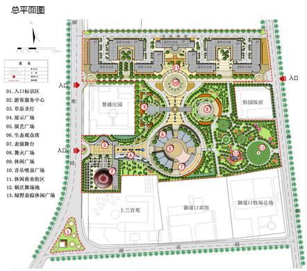 主要建筑及景观项目包括: 游客服务中心——设计来源于蒙古族传统的图片