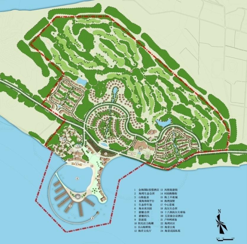 委托客户:大连港集团辽宁省最大的具有百年历史的港口企业。国内首家同时拥有A+H双融资平台的港口类上市公司。 项目区位:辽宁省大连市 项目规模:2.15平方公里 完成时间:2011年 核心资源:海洋资源 项目类型:滨海海岛型+主题运动型+主题公园型旅游区开发策划 规划成效/后续进展:本次策划是大连港集团进军旅游地产行业、获取土地并实现土地增值,同时本项目也成为拉动大长山岛整体开发的核心引擎。  规划范围  土地适宜性分析  规划诉求: