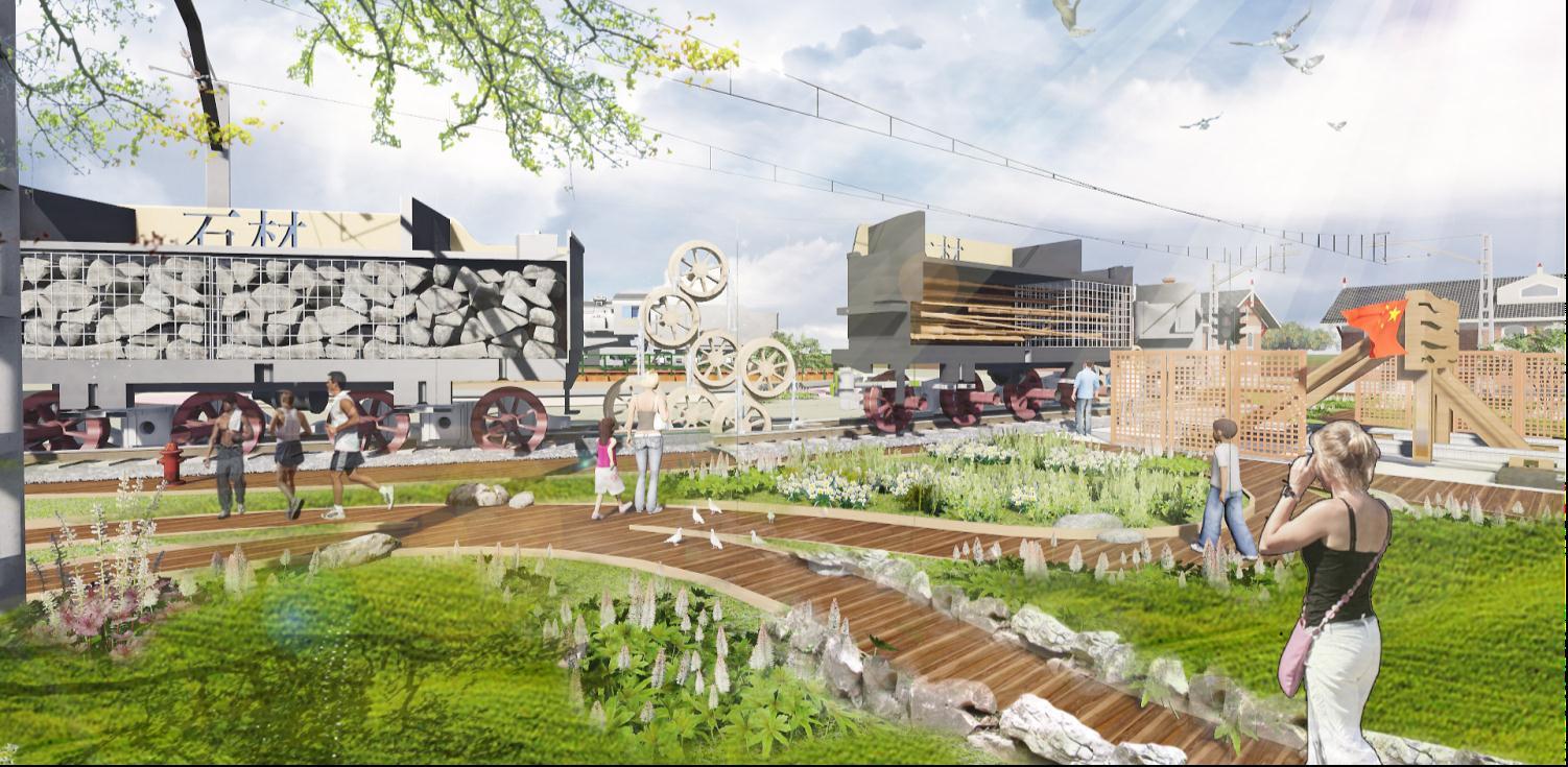 更新改造不同主题广场,营造丰富的景观效果,构筑充满诗意的集散场所.